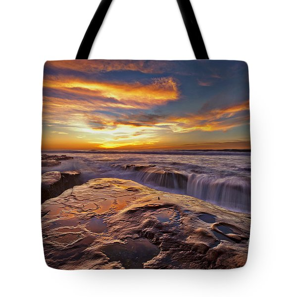 Falling Water Tote Bag by Sam Antonio Photography
