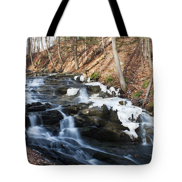 Falling Waters In February #1 Tote Bag by Jeff Severson