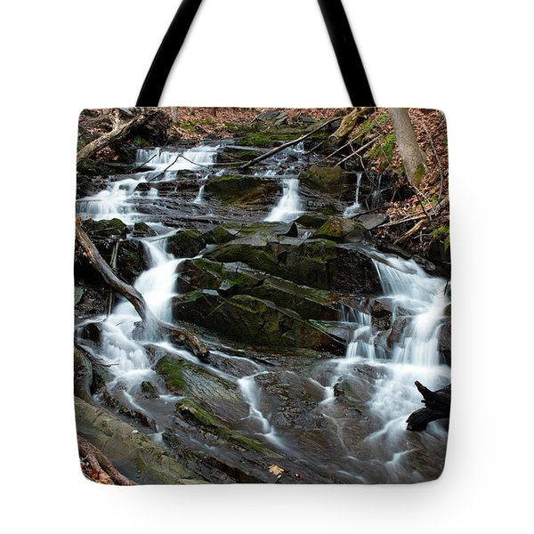 Falling Waters In February Tote Bag by Jeff Severson
