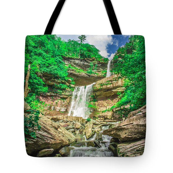Tote Bag featuring the photograph Falling Waters by Paula Porterfield-Izzo
