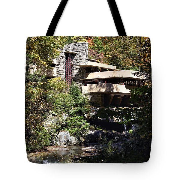 Fallingwater By Frank Lloyd Wright Tote Bag by Brendan Reals