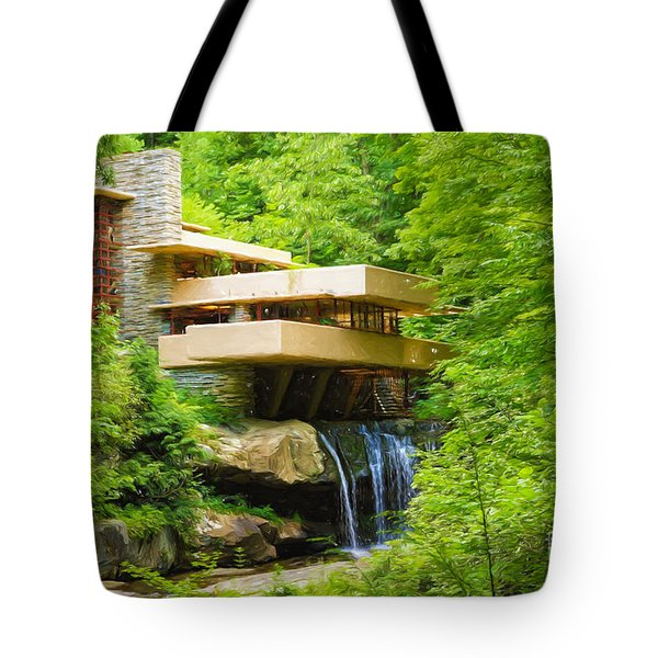 Fallingwater Painterly L Tote Bag