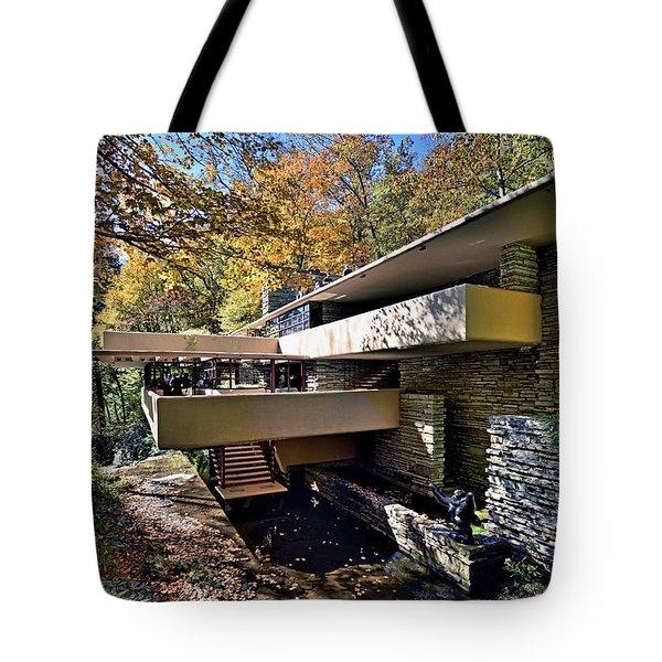 Fallingwater Pennsylvania - Frank Lloyd Wright Tote Bag