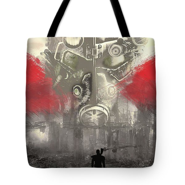 Tote Bag featuring the digital art Fallout 4  by IamLoudness Studio