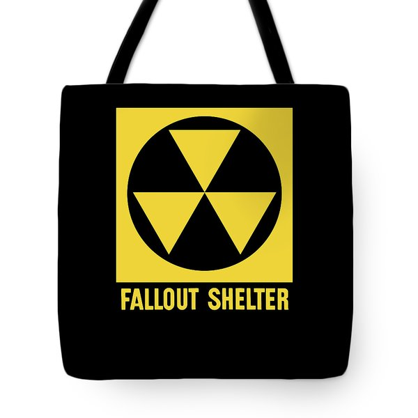 Fallout Shelter Sign Tote Bag by War Is Hell Store