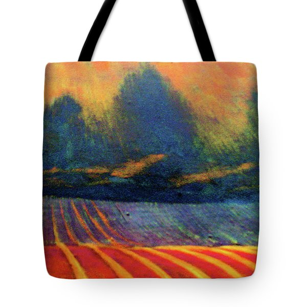 Tote Bag featuring the painting Fallow Field 2 by Jeanette Jarmon