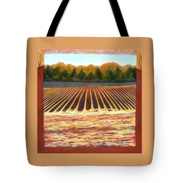 Tote Bag featuring the painting Fallow Field by Jeanette Jarmon