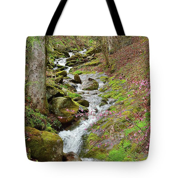 Falls Accented In Pink Tote Bag