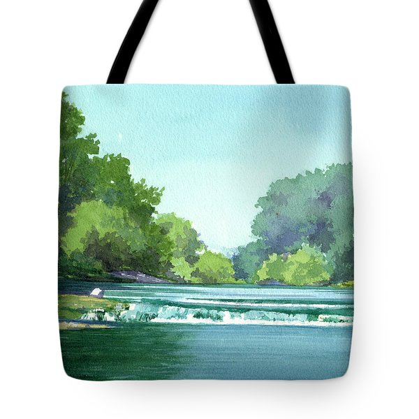 Falls At Estabrook Park Tote Bag