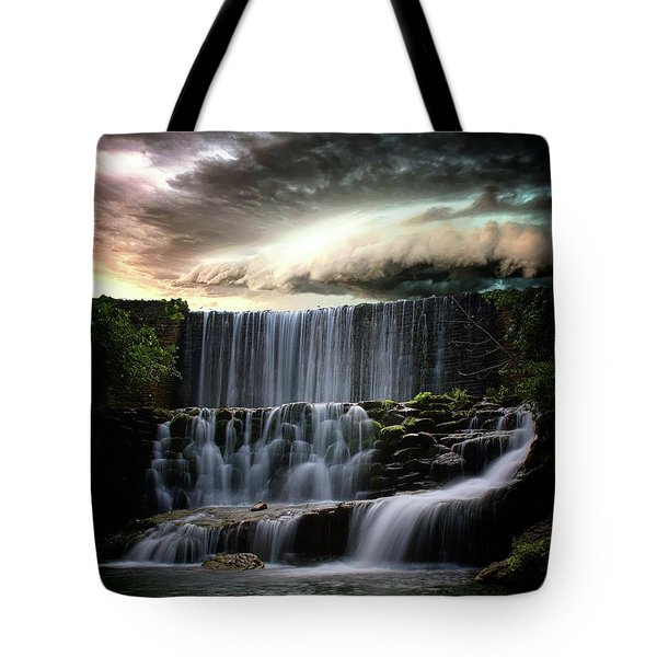 Falls At Mirror Lake Tote Bag