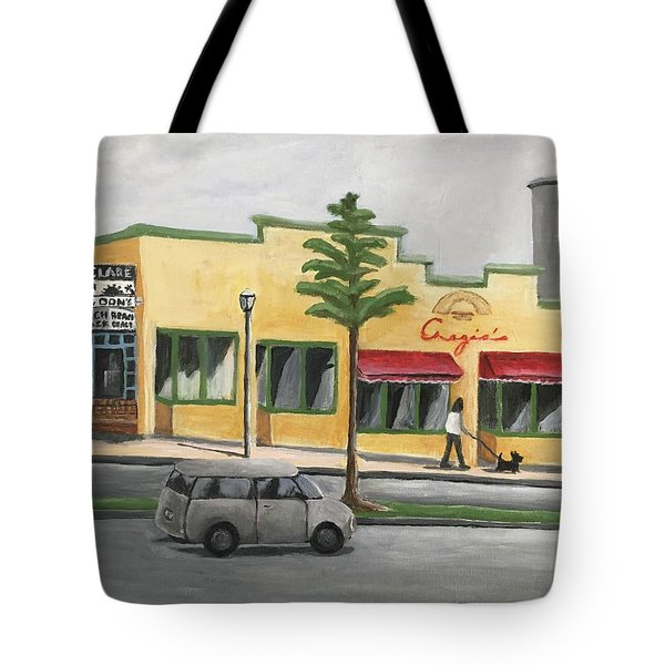 Tote Bag featuring the painting Falls Church by Victoria Lakes
