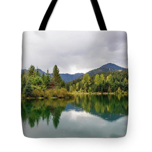 Falls Colors In Gold Creek Pond Tote Bag