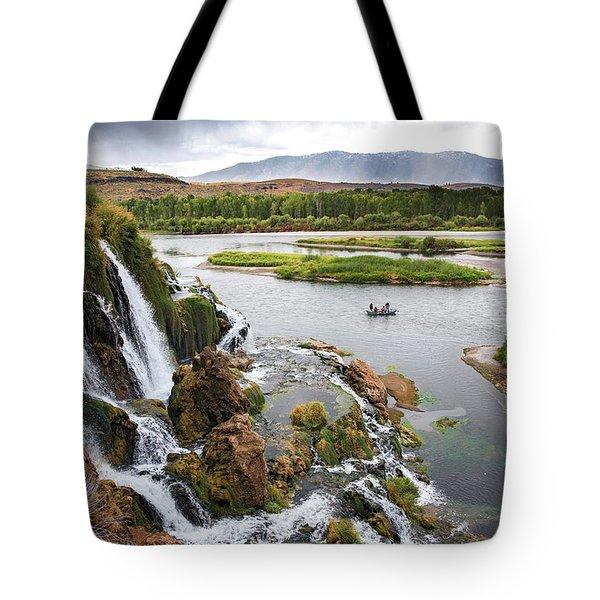 Falls Creak Falls And Snake River Tote Bag