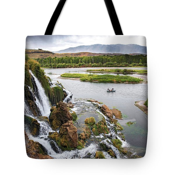 Falls Creak Falls And Snake River Tote Bag
