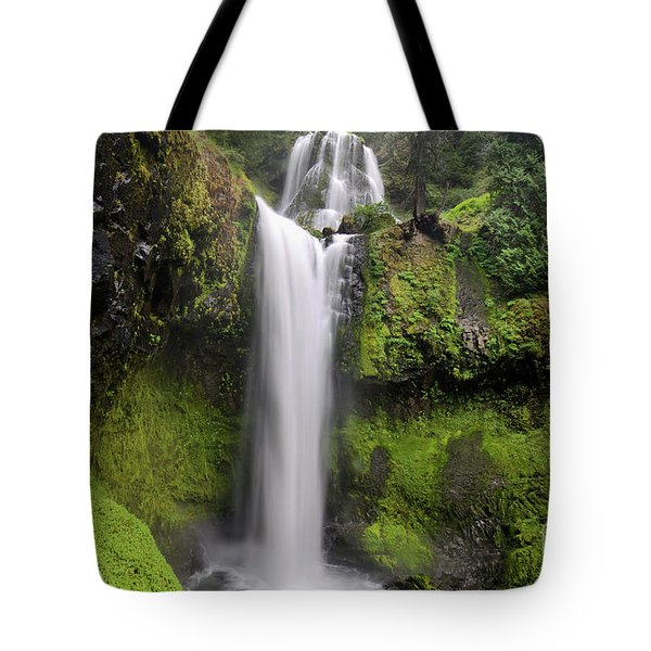 Falls Creek Falls In Washington  Tote Bag