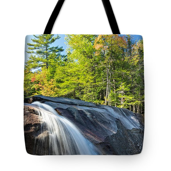 Tote Bag featuring the photograph Falls Diana's Baths Nh by Michael Hubley