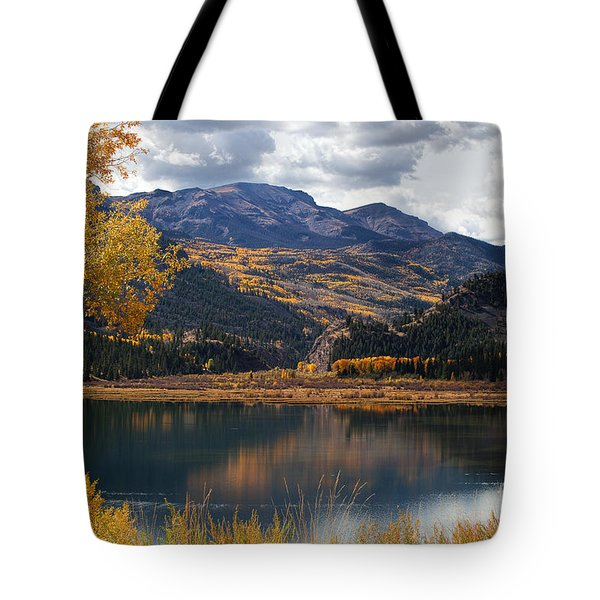 Fall's Fading Reflection Tote Bag