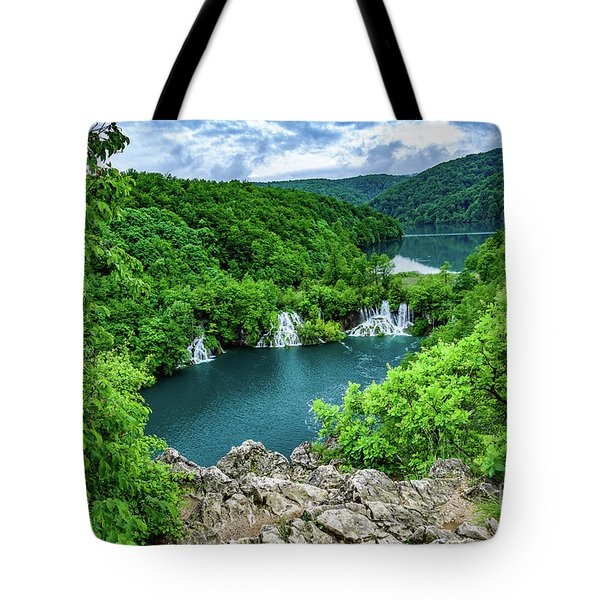 Falls From Above - Plitvice Lakes National Park, Croatia Tote Bag