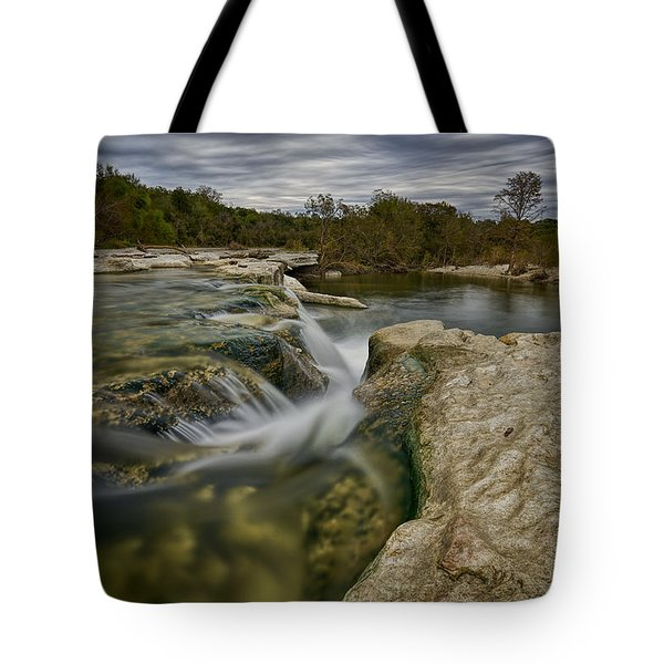 Texas Hill Country Falls Tote Bag