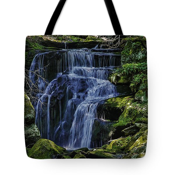 Falls In Vermont Mountain Stream  Tote Bag