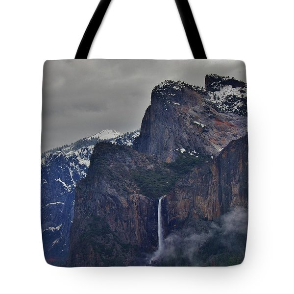 Tote Bag featuring the photograph Falls In Yosemite A by Phyllis Spoor