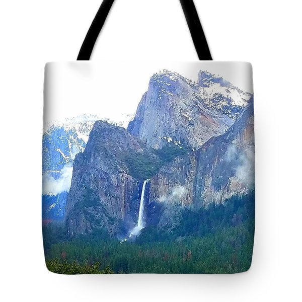 Tote Bag featuring the photograph Falls In Yosemite C by Phyllis Spoor