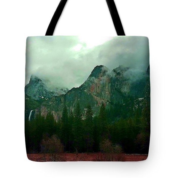 Tote Bag featuring the photograph Falls In Yosemite D by Phyllis Spoor