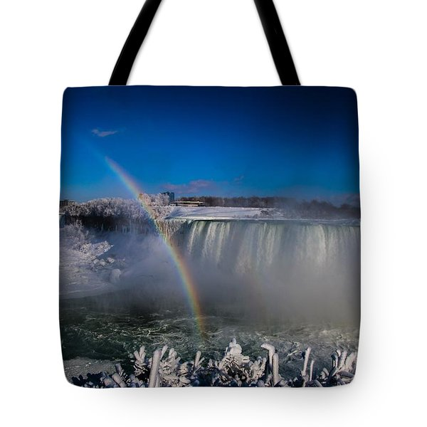 Falls Misty Rainbow  Tote Bag