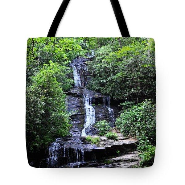 Falls Near Bryson City Tote Bag