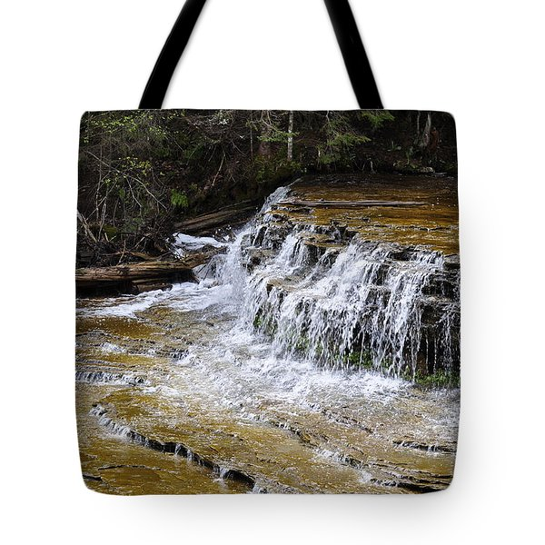 Falls Of The Au Train Tote Bag