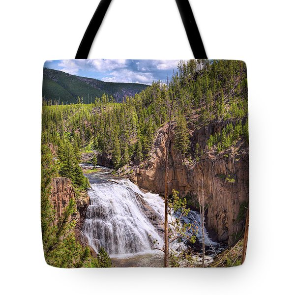 Tote Bag featuring the photograph Falls Of The Gibbon by John M Bailey