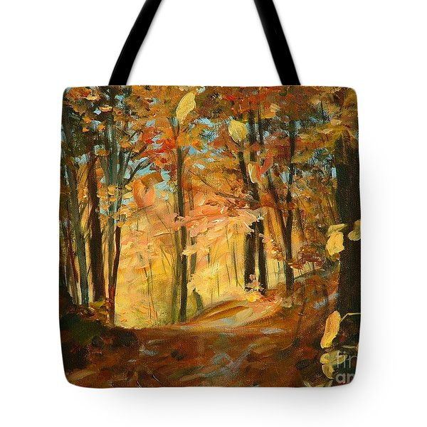 Fall's Radiance In Quebec Tote Bag by Claire Gagnon