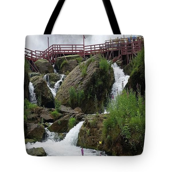 Tote Bag featuring the photograph Falls by Raymond Earley