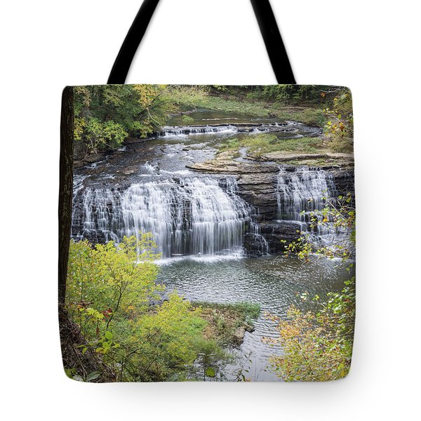 Falls Through The Trees Tote Bag