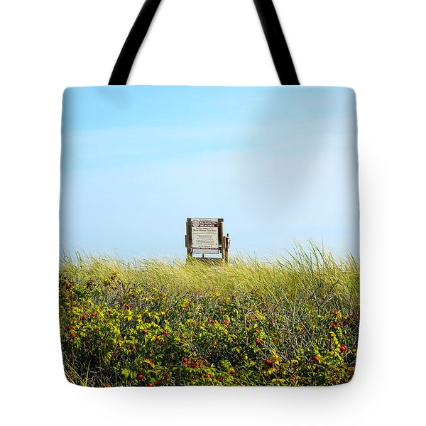 Tote Bag featuring the photograph Falmouth Beach Open 9-5 by Madeline Ellis