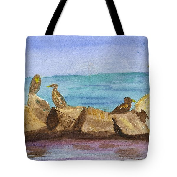 Tote Bag featuring the painting Falmouth Mass by Donna Walsh