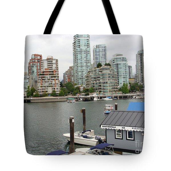 False Creek Vancouver Tote Bag by Rod Jellison