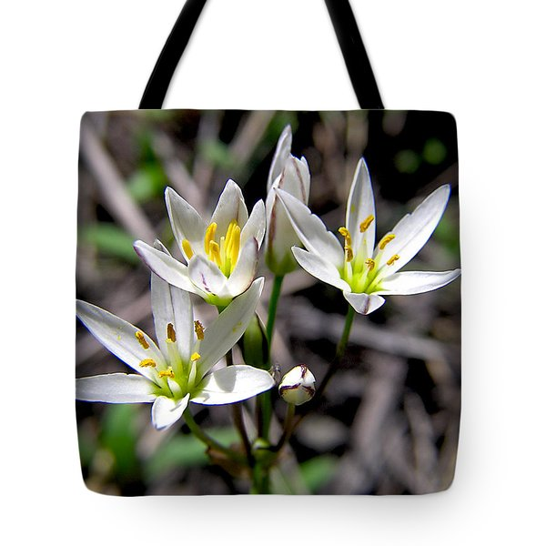 False Garlic Wild Flower Tote Bag