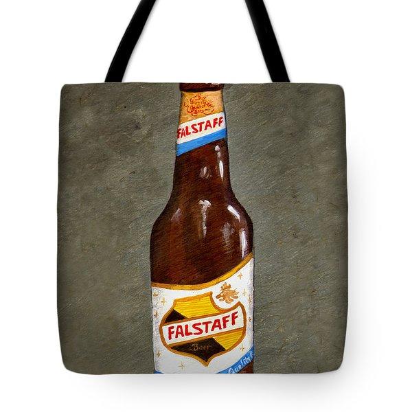 Falstaff Beer Bottle Tote Bag by Elaine Hodges