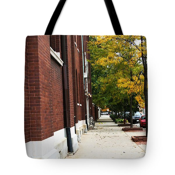Familair Streets To An Old Women Tote Bag by Jamie Lynn