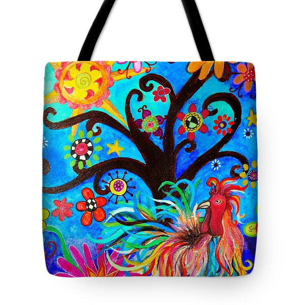 Tote Bag featuring the painting Family And New Traditions by Pristine Cartera Turkus