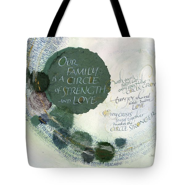 Family Circle Tote Bag by Judy Dodds