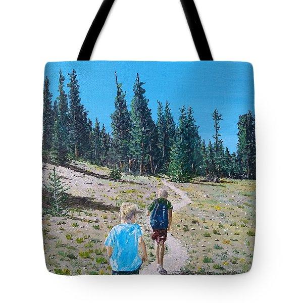 Family Hike Tote Bag