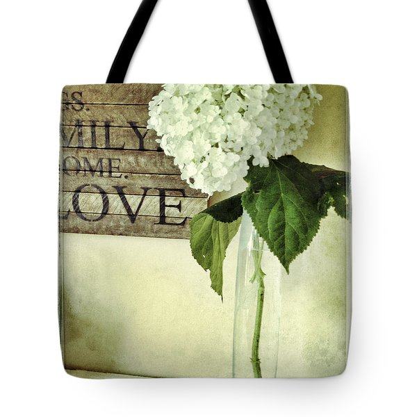 Family, Home, Love Tote Bag