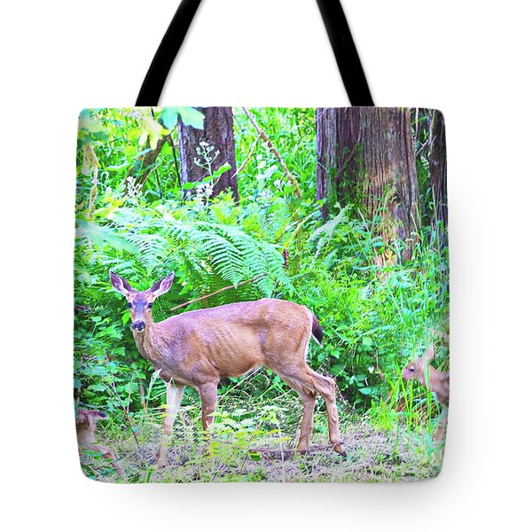 Family In The Wild Tote Bag