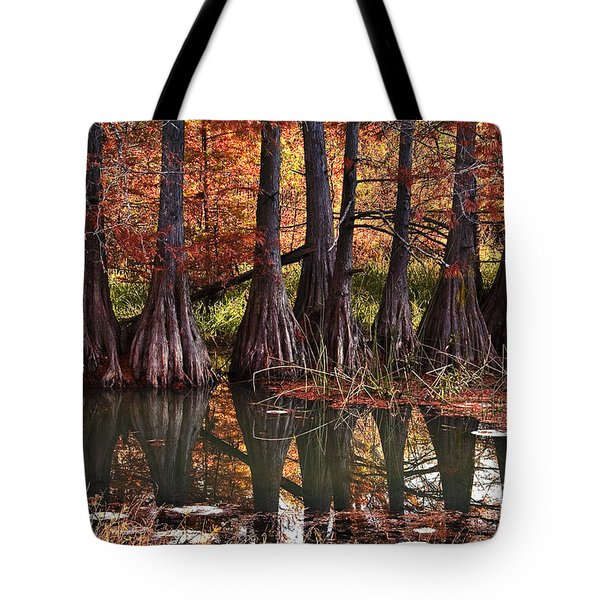 Tote Bag featuring the photograph Family Of Cypress At Lake Murray by Tamyra Ayles