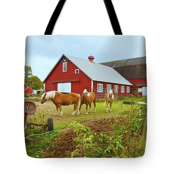 Family On The Farm Tote Bag