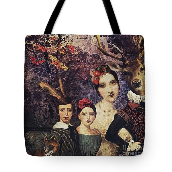 Tote Bag featuring the digital art Family Portrait by Alexis Rotella