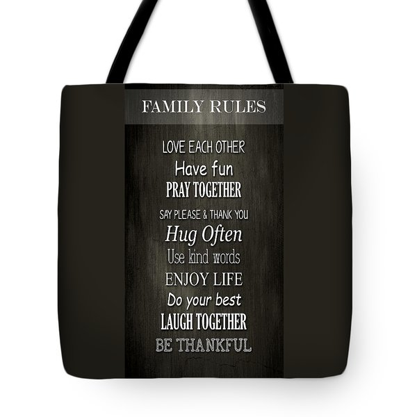 Family Reminders Tote Bag by Inspired Arts