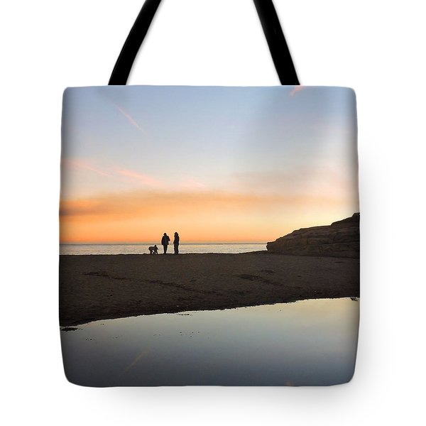 Family Sunset Tote Bag